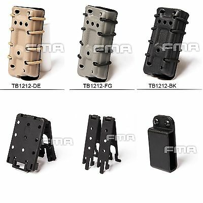 Black/DE/FG Scorpion Pull Mag Carrier Single Pouch Stack For 45acp With Flocking