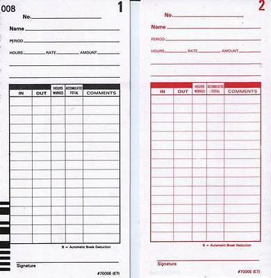 E79-100 TIME CARDS FOR LATHEM 7000E and LATHEM 7500E CALCULATING ...