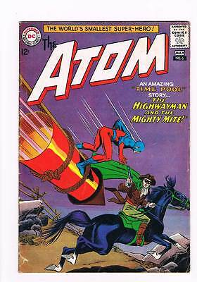 Atom # 6 Riddle of the Two-Faced Astronaut ! grade 4.0 scarce book !!
