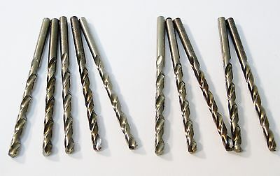 "10 Pc Cobalt # 8 / 13/64"" Jobber Length Drill Bit Set Usa Made"