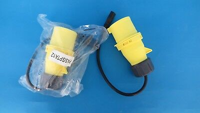Industrial yellow plug 32amp P31341 100-130v with IEC C13