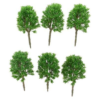 6pcs 1:30 Scale DIY Model Trees Train Railroad Layout Scenery Accessories