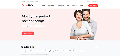 Responsive Dating Website, Built-In Chat Room