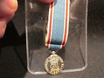 Genuine 1937 Coronation Miniature Medal in Sterling Silver with Ribbon
