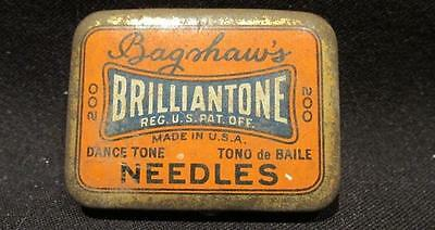 Bagshaw's Brilliantone USA Made Antique Tin with Dance Tone Phonograph Needles