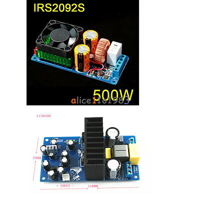 IRS2092S 250W 500W Mono Channel Digital Amplifier HIFI Power Amp Board + FAN
