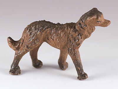 Vintage Miniature Ceramic Dog Figurine - Irish Wolfhound Type - Made In Italy