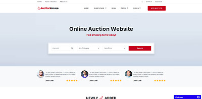 Fully Responsive Auction Website