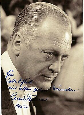 Fotografie,Original-Photo,Portait ,Curt Jürgens,Autogramm u. Widmung,1960