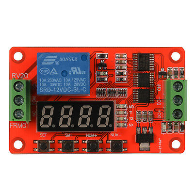 Programmable Multifunction Self-lock Relay Cycle Timer Module Delay 12V TE676