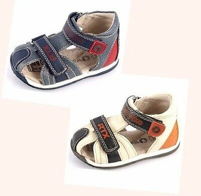 New Baby Boys Leather Lined Straps Sandals  Walking Summer Holiday First Shoes