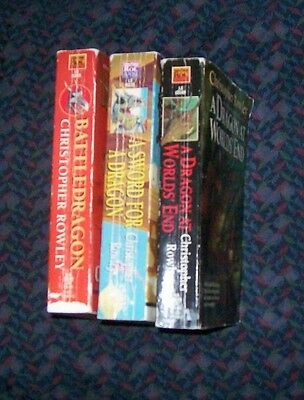 lot of 3 Christopher Rowley DRAGON paperbacks (list in description)