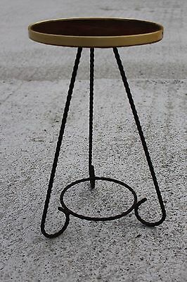 Vintage Table Plant Stand Wrought Iron