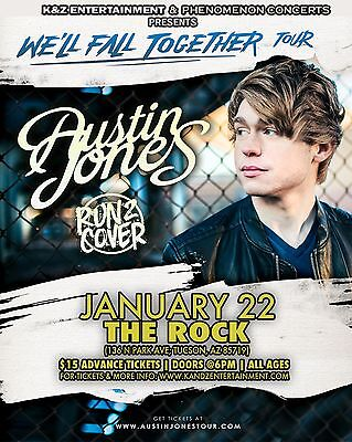"Austin Jones / Run 2 Cover ""we'll Fall Together Tour"" 2017 Tucson Concert Poster"
