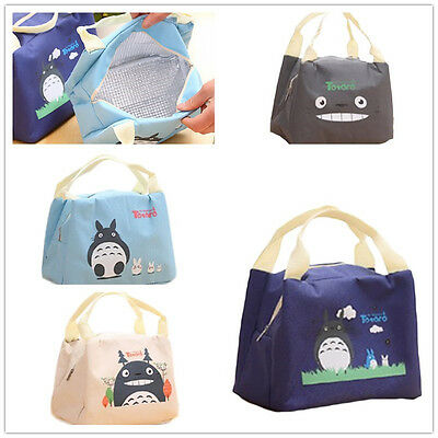 Totoro Thermal Picnic Cooler Insulated Portable Lunch Box Bag Travel Kids