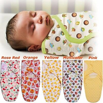 0-12Month Newborn Baby Sleeping Bag Infant Cotton Soft Swaddle Wrap Blanket
