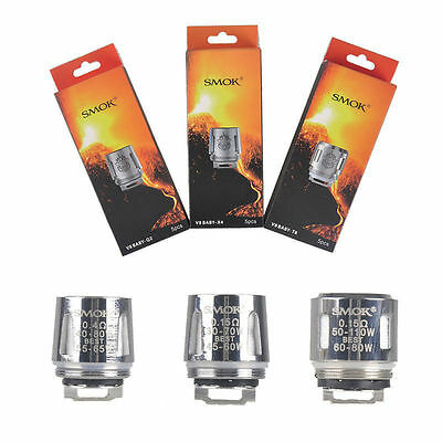 5x SMOK TFV8 Baby Coil Head Cloud Beast Replacement for V8 Baby T8 X4 Q2 T6 M2
