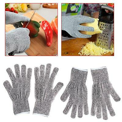 1 pair Safety Cut Proof Stab Resistant Stainless Steel Metal Mesh Butcher Gloves