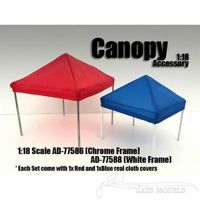 Canopy Set with White Frame 1:18 Scale by Greenlight AD-77588