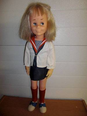 "Mattel ~ Vintage 1961 Charmin' Chatty in Original Clothes 24"" She Talks"