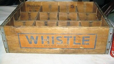 Darien Ct Country Store Wood Whistle Soda Bottle Art Sign Box Holder Crate Shelf