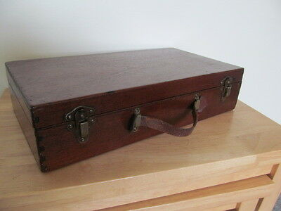 Lovely Vintage Wooden Box With Leather Strap