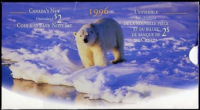 1996 Canada New Uncirculated $2 Coin & Banknote Set