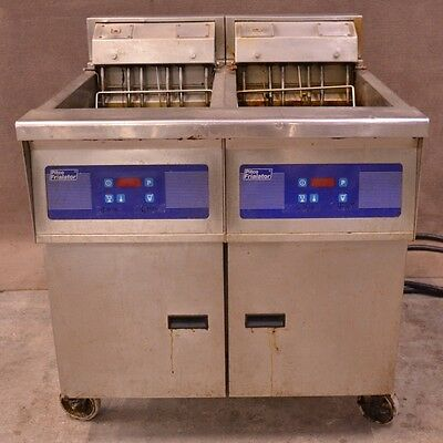 Pitco Frialator E14XS-0V Double Electric Commercial Deep Fat Fryer 460V 3-Phase