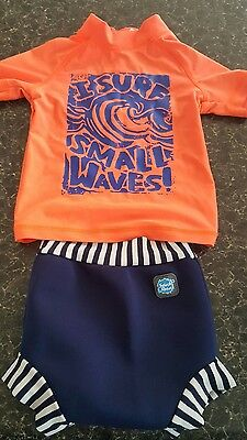 Boys next swim vest and happy nappy large 9-12 months