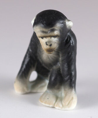 Vintage Miniature Bone China Baby Monkey Figurine Matte Finish