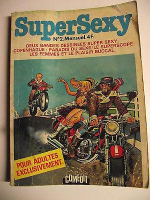 B.D. Adultes  SUPERSEXY  n° 2  COMEDIT 1977. FRANKY STONE. MOTOBOYS