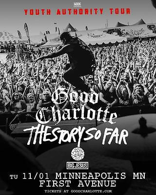 "GOOD CHARLOTTE ""YOUTH AUTHORITY TOUR"" 2016 MINNEAPOLIS CONCERT POSTER - Pop Punk"
