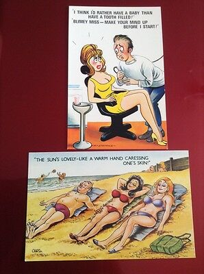 10 Bamforth Unused Saucy Seaside Comic Postcards