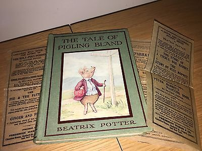 The Tale of Pigling Bland by Beatrix Potter 1st / 1st state 1913 with DW