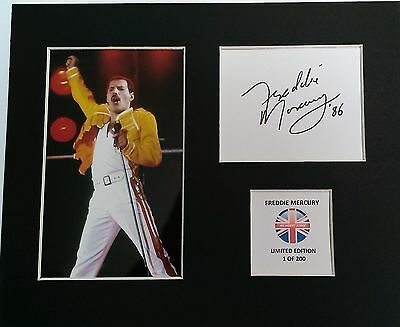 Limited Edition Freddie Mercury Pop Music Signed Mount Display QUEEN ROCK YOU