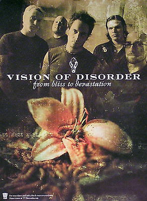 Vision of Disorder 2001 From Bliss To Devastation Poster Original