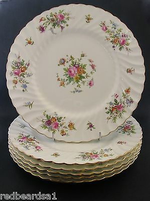 China Replacement Minton Marlow White Dinner Plate England Globe bs c1940s 26cm