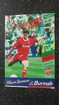 Swindon Town V Oldham Athletic 1992-93