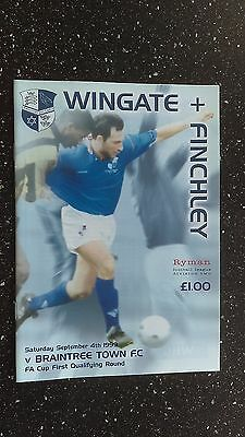Wingate & Finchley V Braintree Town 1999-00.