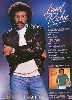 Commodores Lionel Richie 1983 Self Titled Promo Poster