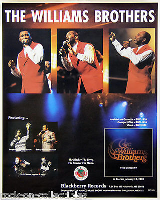 The Williams Brothers 2002 In Concert Original Promo Poster