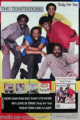 The Temptations 1984 Truly For You Promo Poster