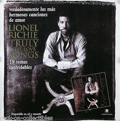Commodores Lionel Richie 1997 Love Songs Mexican Poster