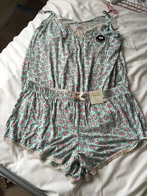 Ladies Short Pyjamas Brand New Primark 18/20