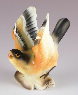 Vintage Miniature Bone China Goldfinch Bird Figurine Matte Finish