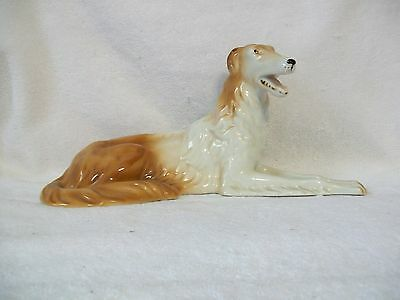 Large Vintage Royal Dux Borzoi Russian Wolfhound Dog Figurine