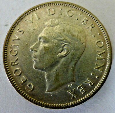 Nice grade George V1 Florin 2/- Two Shillings Coin 1943