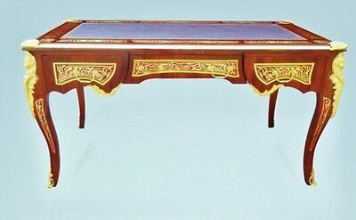 Top Quality Louis XV Boulle Style LARGE tulip wood Desk