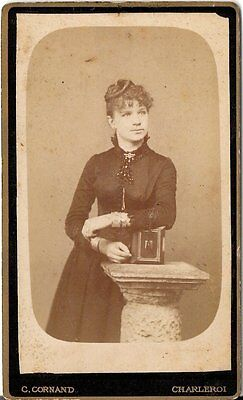 CDV photo Feine Dame - Charleroi 1880er