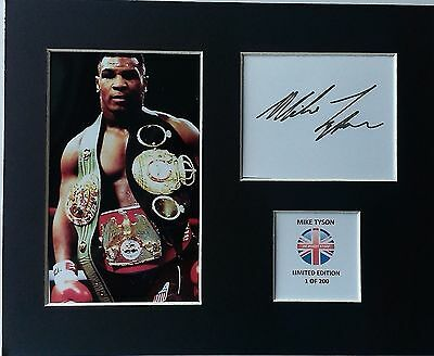 Limited Edition Mike Tyson Boxing Signed Mount Display WORLD CHAMPION HOLYFIELD